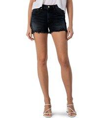 women's modern american east side denim shorts, size 32 - black