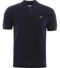 lacoste polo shirt with embroidered logo patch