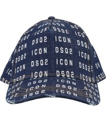 dsquared2 denim baseball cap