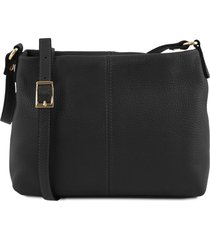 tuscany leather tl141720 tl bag - borsa a tracolla in pelle morbida nero