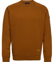 organic cotton felpa crewneck sweat sweat-shirt trui bruin scotch & soda