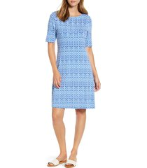 women's tommy bahama tenali tiles short sleeve fit & flare dress
