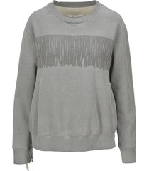 mm6 fringed sweatshirt