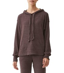 michael stars kylo thermal hoodie, size large in oak at nordstrom