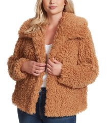 jessica simpson trendy plus size sasha faux-fur jacket