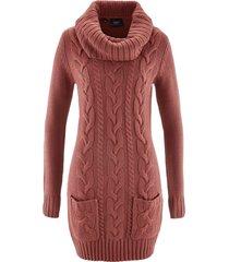 abito in maglia a collo alto (rosso) - bpc bonprix collection