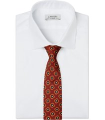 cravatta su misura, lanieri, medaglia ruggine, quattro stagioni