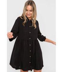 vestido negro nano