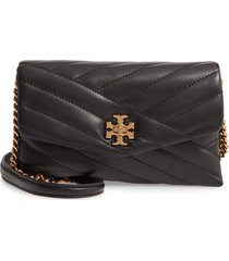 women's tory burch kira chevron quilted leather wallet on a chain -