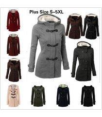 fashion warm double breasted winter coat women wool jacket coat hoodies outwear