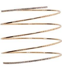 rugiada diamond end five wrap bracelet