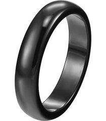 anillo ceramica unisex negro 3mm
