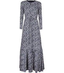 vestido keyhole maxi dress floral azul banana republic