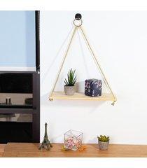 cuerda rústica de madera maciza pared de colgante de la vendimia plataforma de almacenamiento flotante del hogar del estante - pequeño