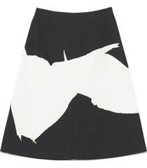 maison margiela painted skirt