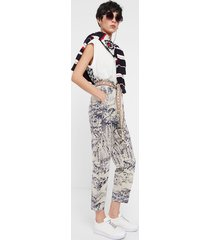 japanese ankle grazer and paperbag trousers - white - xl