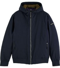scotch & soda hooded quilted stretch-nylon jacket night