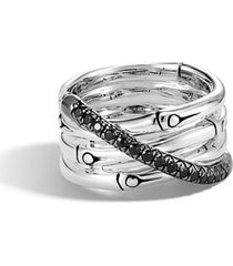 women's john hardy bamboo black sapphire & spinel ring