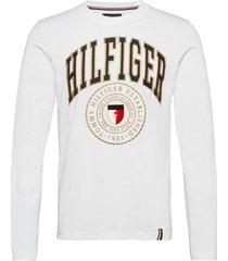 hilfiger varisty long sleeve tee t-shirts long-sleeved vit tommy hilfiger