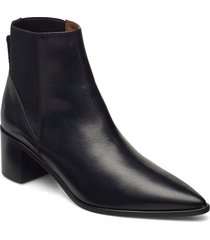donaci black vacchetta shoes boots ankle boots ankle boot - heel svart atp atelier