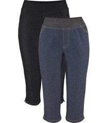 jeans elasticizzati capri comfort (pacco da 2) (nero) - john baner jeanswear