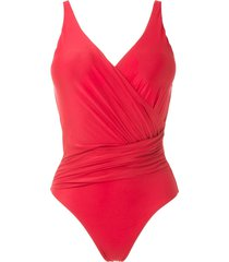 lygia & nanny maisa draped swimsuit - red