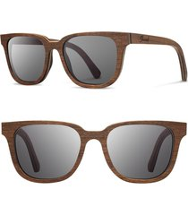 men's shwood 'prescott' 53mm wood sunglasses -