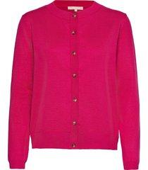 srmarla new o-neck cardigan stickad tröja cardigan rosa soft rebels