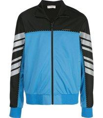 black & blue color block track jacket
