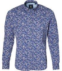 lerros overhemd - modern fit - paars