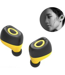 audifonos bluetooth mini auricular inalámbricos manos libres-amarillo