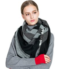 sciarpa di cotone caldo inverno lungo delle donne nappa soft sciarpa coperta di scialle di moda a righe