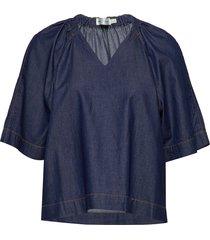 minneiw blouse blouses short-sleeved blauw inwear