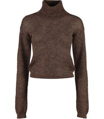 dsquared2 mohair blend turtleneck sweater