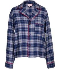 blue and grey pajama top