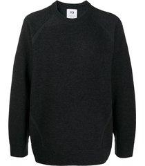 y-3 wool panel sweatshirt - grey
