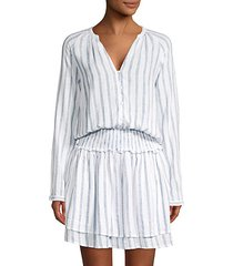 jasmine striped blouson dress