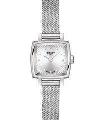 women's tissot lovely square diamond bracelet watch, 20mm