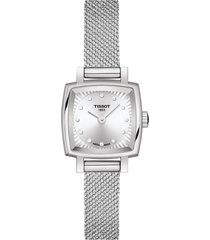 women's tissot lovely square diamond bracelet watch, 20mm