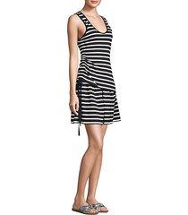 layered stripe dress