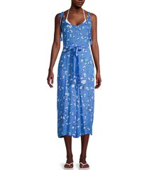 tiare hawaii women's french floral-print jumpsuit - bloom sky