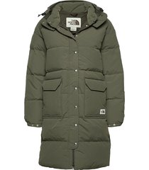 w dwn srra pka parka lange jas jas groen the north face