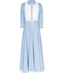 evi grintela garance collared maxi dress - blue