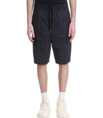 neil barrett shorts in black cotton