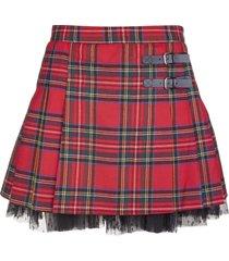 red valentino red tartan kilt mini skirt