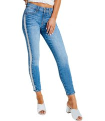 jeans destroyed fringe sexy curve denim guess