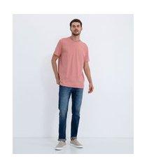 camiseta comfort em algodão peruano lisa | marfinno | rosa | gg