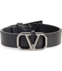 men's valentino vlogo leather bracelet