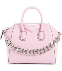 givenchy mini antigona leather satchel - pink