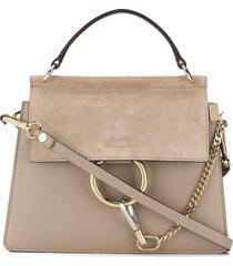 faye suede leather shoulder bag